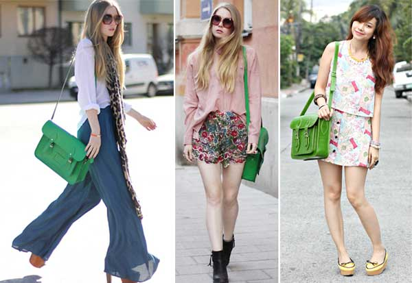 355643 verde Cambridge Satchel Bag: A bolsa da vez