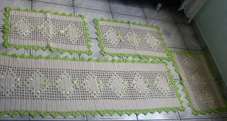tapetes de barbante para cozinha 9 150x150 Tapetes de barbante para