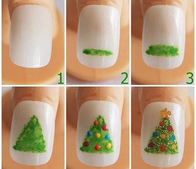 356688 unha com arvore de natal Unhas decoradas para Natal