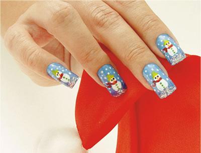 356688 unha com bonecos de neve Unhas decoradas para Natal