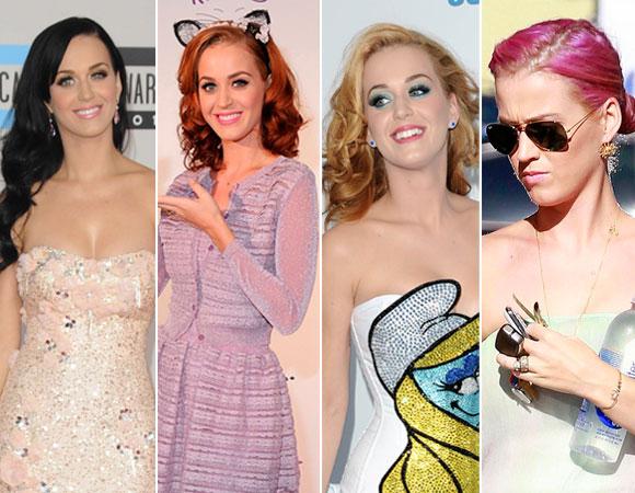 356694 katy perry cabelo rosa cabelo ruivo look Famosas que apostaram nos cabelos coloridos