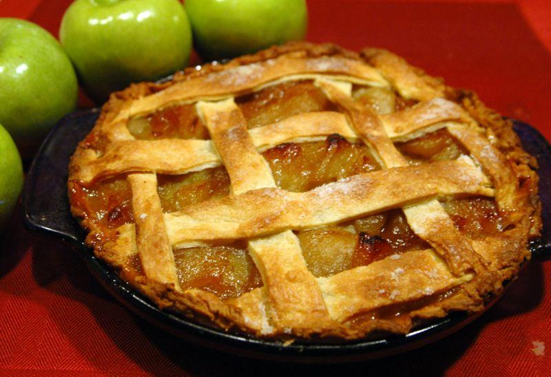 356991 TORTA 1 Receita de torta de maça americana
