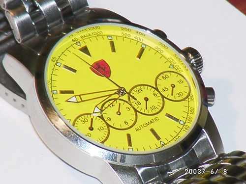 360736 RELOGIO FERRARI AMARELO ACO FOTO GRANDE 4 Relógios de marca   onde comprar barato