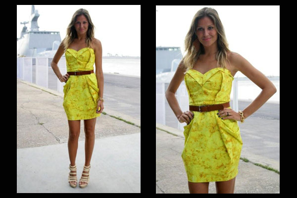 361824 ellen jabour vestido amarelo Vestidos tomara que caia 2012