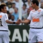 366171 neymar e ganso 150x150 Em temporada dourada, Santos colecionou títulos
