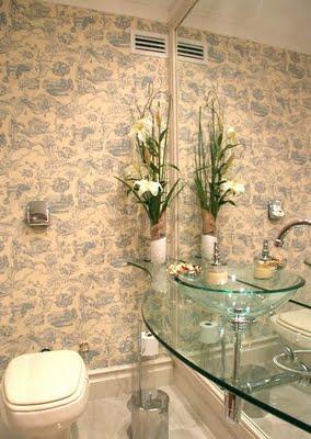367954 lavabos com papel de parede 5 Lavabos com papel de parede