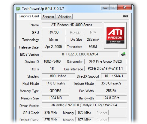 368450 GPU Zim2 Programa informa a você tudo sobre a sua placa de vídeo