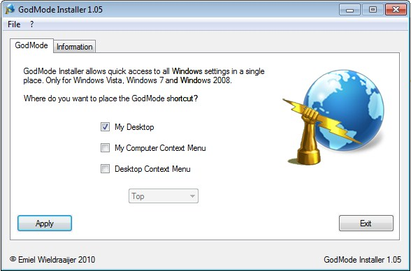369264 GodModeim1 Tenha todas as opções do Windows Vista e 7 sempre à mão
