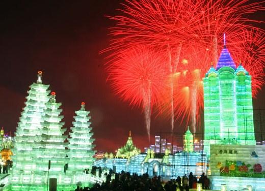 369453 passeio na neve Festival do gelo e da neve na China