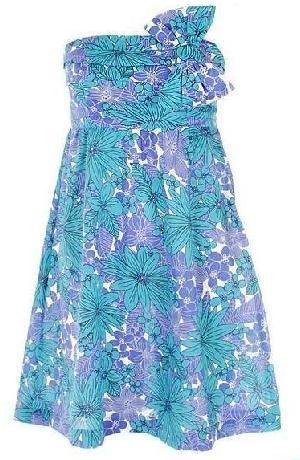 370015 vestido florido Chinelo customizado com tecido