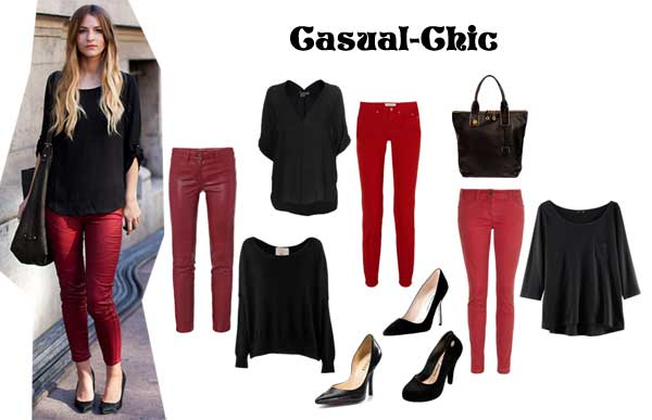 372463 casual chic look Calça Colorida: Dicas Looks