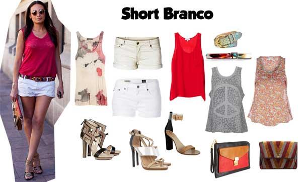 372757 branco look Short no Verão: Dicas e Looks