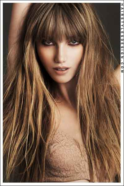 373468 cabelo longo franja Cabelos com franja 2012