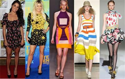 375036 vestidos estampados Moda adolescente 2012 fotos, tendências
