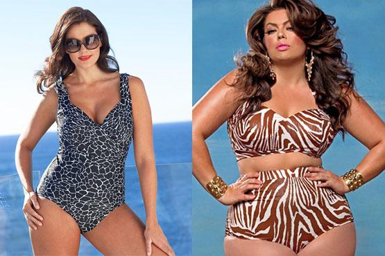 376042 moda praia plus size1 Modelos de biquínis e maiôs para gordinhas 2012