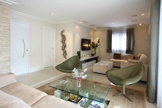 Sala Pequena Com Sofa Bege ~ Salas de estar decoradas – dicas, fotos