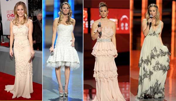 376250 Kaley Cuoco People's Choice Awards 2012: Looks das Celebridades