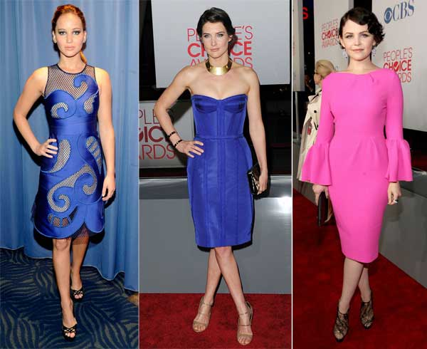 376250 jenniferlawrence cobiesmulders ginnifer goodwin COR1 People's Choice Awards 2012: Looks das Celebridades