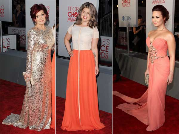 376250 sharon kelly demilovato CORBRILHO People's Choice Awards 2012: Looks das Celebridades
