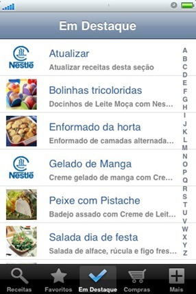 378903 nestle receitas iphone 1 Nestlé   receitas para iphone