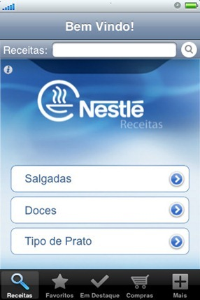 378903 nestle receitas iphone 2 Nestlé   receitas para iphone