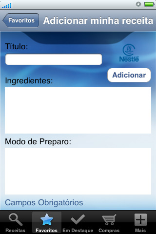 378903 nestle receitas iphone 3 Nestlé   receitas para iphone