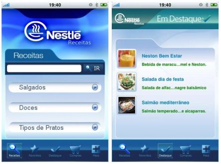 378903 nestle receitas iphone Nestlé   receitas para iphone