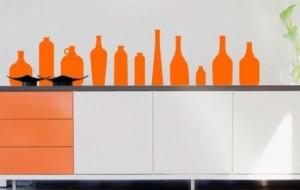 Adesivos de parede que imitam objetos – fotos