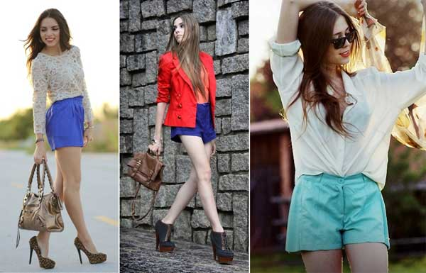 379714 azul Short colorido para o verão 2012