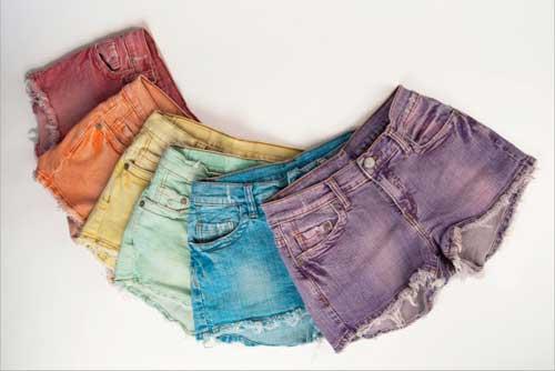 379714 shortsjeansm2f Short colorido para o verão 2012