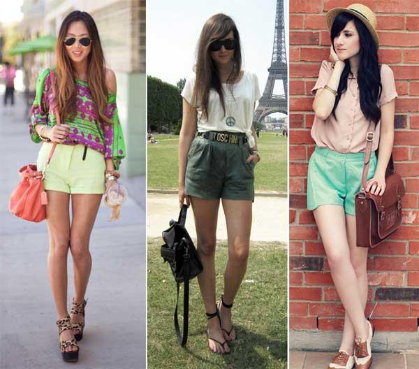 379714 verde Short colorido para o verão 2012