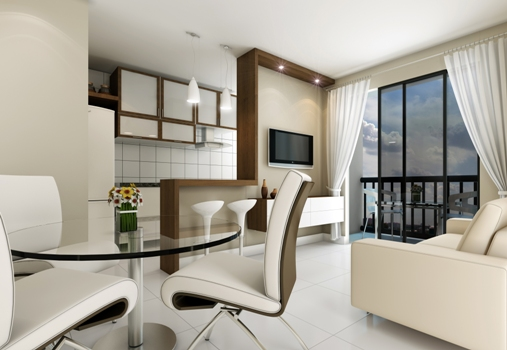 cozinha 7 150×150 Cozinha conjugada à sala decoração, dicas, fotos