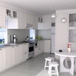 383888 Cozinha branca aconchegante como decorar fotos 1 150x150 Cozinha branca aconchegante: como decorar, fotos