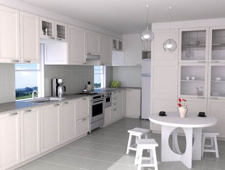 383888 Cozinha branca aconchegante como decorar fotos 1 Cozinha branca aconchegante: como decorar, fotos