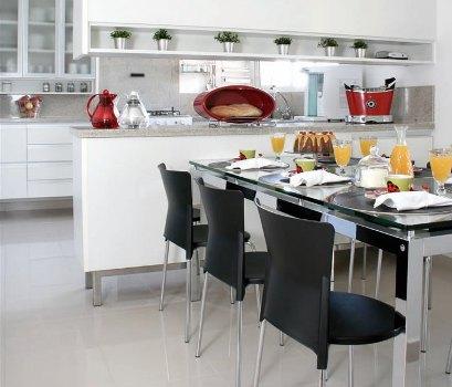 383888 Cozinha branca aconchegante como decorar fotos 11 Cozinha branca aconchegante: como decorar, fotos