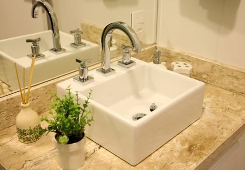 Suíte e lavabo  decorando -> Casas Da Agua Pia De Banheiro