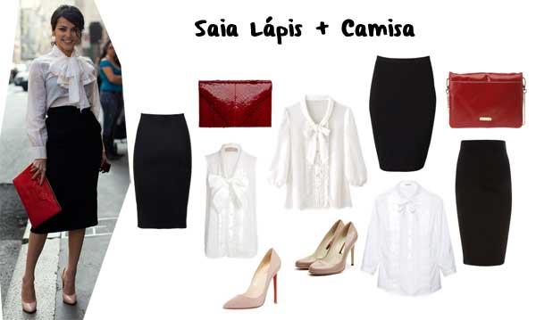 386429 saialapis camisa Preto e Branco: Looks e Dicas