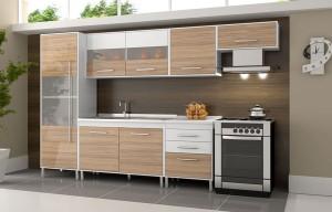 388124 Designe moderno com muito espa%C3%A7o interno Armário de cozinha Casas Bahia Bartira