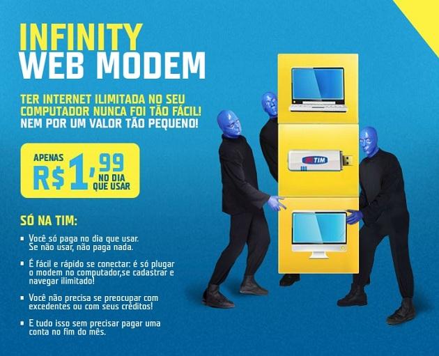 392301 infinitywebmodem Tim Web Pré R$ 1,99 Tim Infiny Modem Internet