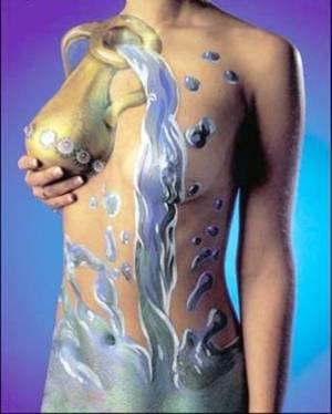 Essa pintura ganha movimento com a utilização das curvas femininas. (Foto: Divulgação)