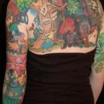 393761 alice in wonderland tattoo back 150x150 Tatuagens para fechar o braço: fotos