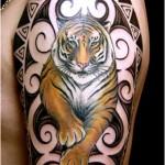393761 tiger arm tattoo 150x150 Tatuagens para fechar o braço: fotos