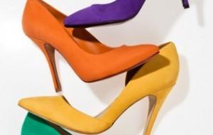 Calçados femininos color blocking