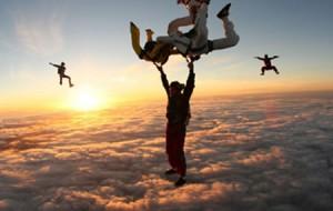 Salto de paraquedas: compras coletivas