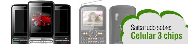 39437 celular 3 chips Celulares Baratos e Modernos