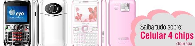 39437 celular 4 chips Celulares Baratos e Modernos