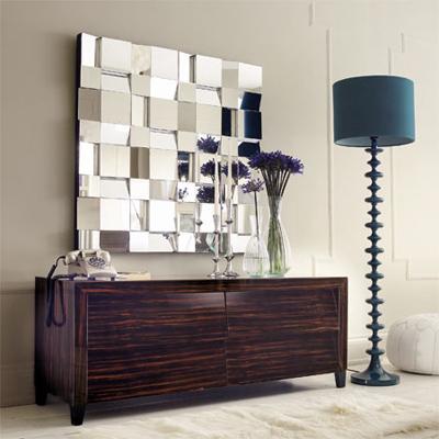 394416 espelho para sala Objetos decorativos para sala: dicas, ideias, fotos