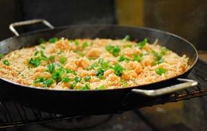 Risoto de frango e legumes