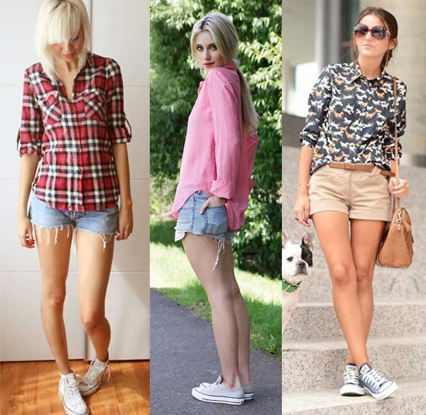 396714 short camisa Como Usar All Star Converse: Dicas e Looks
