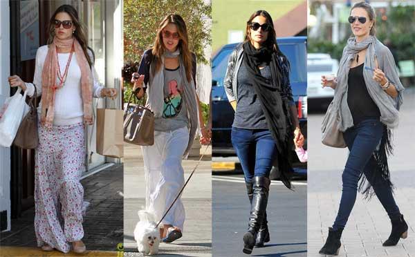 398258 alessandraambrosio Grávidas e estilosas: looks das celebridades grávidas